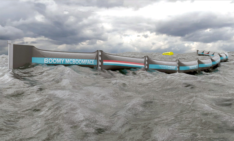 ocean cleanup array test