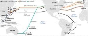 Новые проекты web  гигантов по прокладке подводных кабелей
