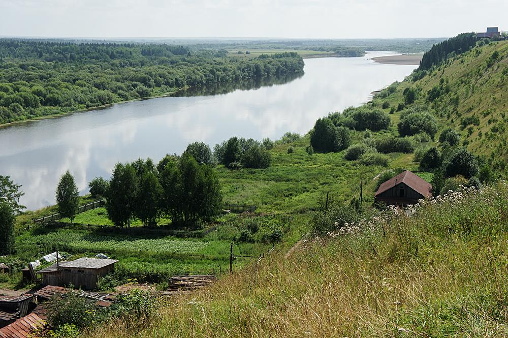 Чердынь. Река Колва (вид с Троицкого холма)