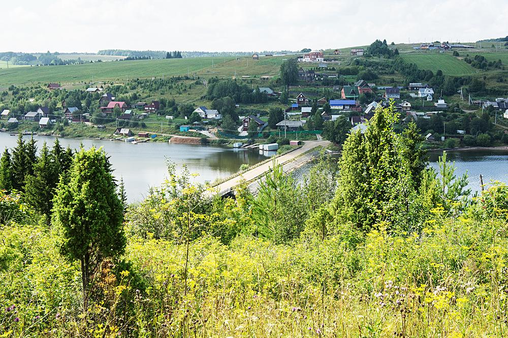 село Хохловка на р. Кама