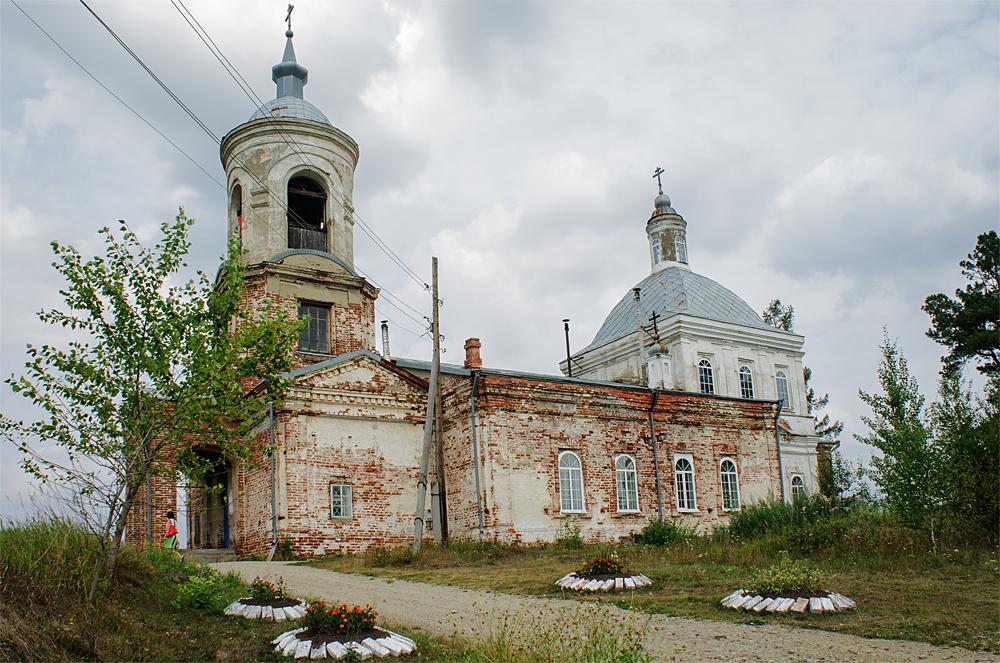 Храм Святой Троицы в деревне Шиловка (фасад)
