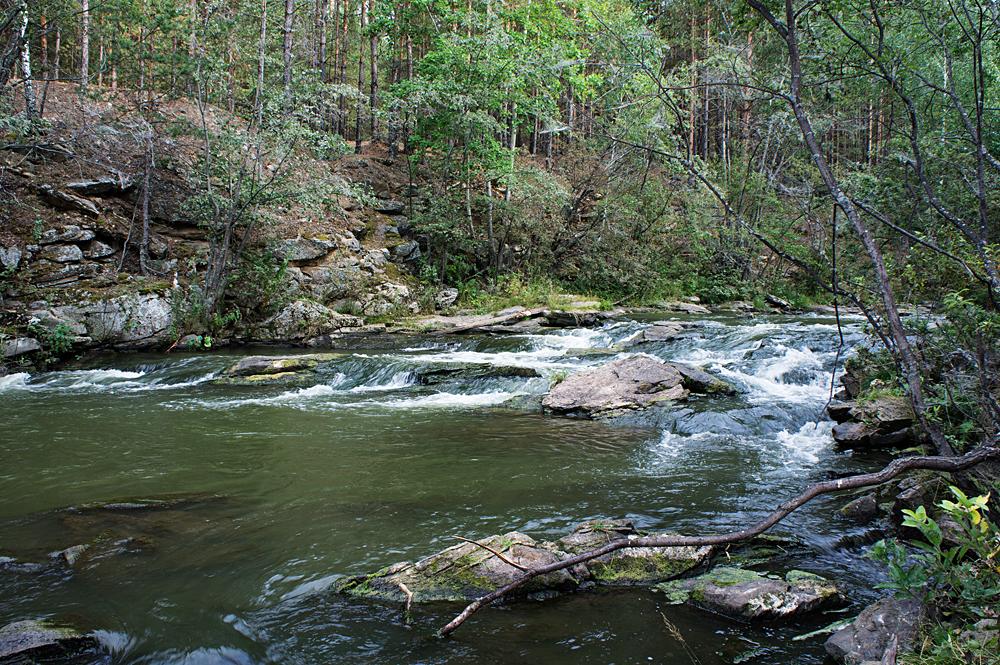 Быстрые воды речки Амбарки