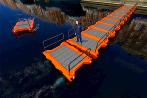 robot boat temporary bridge
