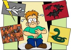 Аэрофобия - боязнь летать, арахнофобия - боязнь пауков, герпетофобия - боязнь рептилий, чироптофобия - боязнь летучих мышей