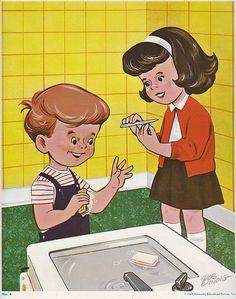 Рисунок как нужно ухаживать за чистотой ногтей.