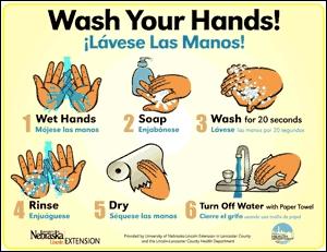 Памятка для школьников - как нужно мыть руки.