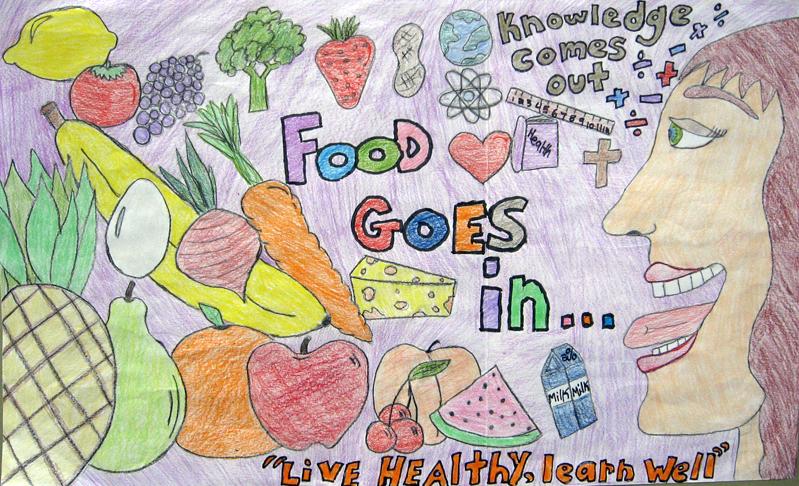 как нарисовать здоровый образ жизни