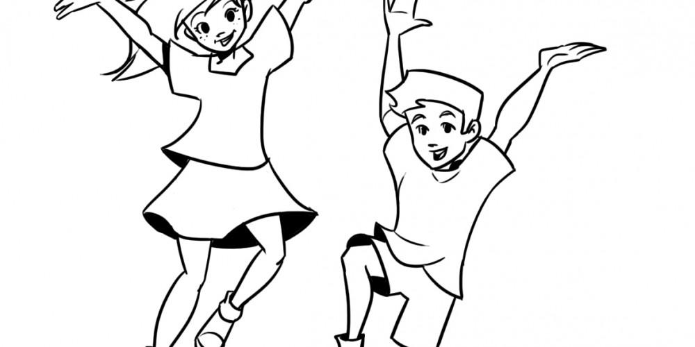 раскраска для листовок о здоровом образе жизни