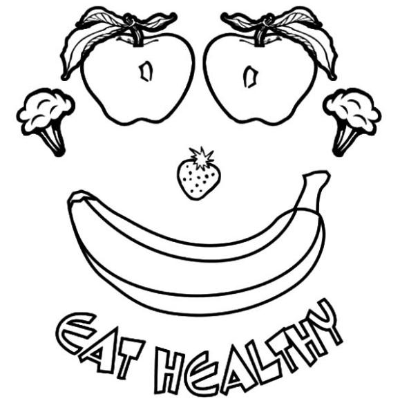 фото-раскраска про здоровый образ питания