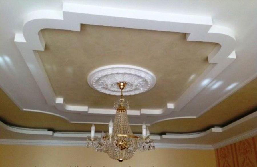 Изготовление фигурных потолков сегодня выполняется из гипсокартона