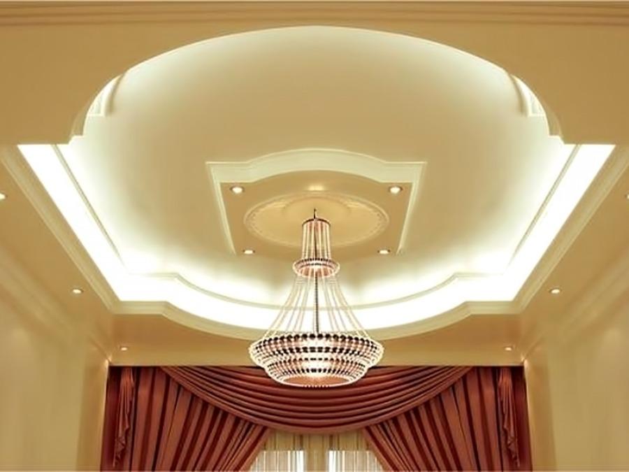 Многоуровневые потолки помогают в зонировании помещений