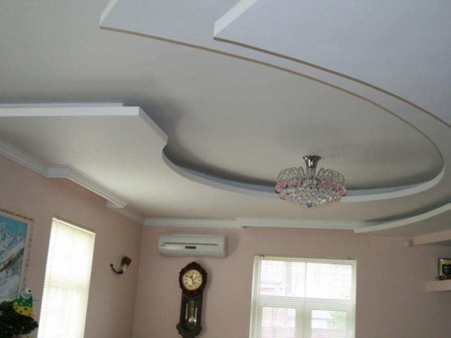Если вам нужно скрыть недостатки потолка, гипсокартон будет оптимальным решением.