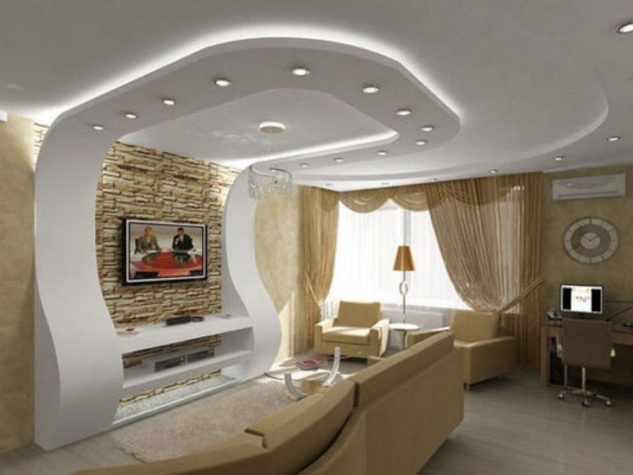 Монтаж специальной подсветки для декора потолка