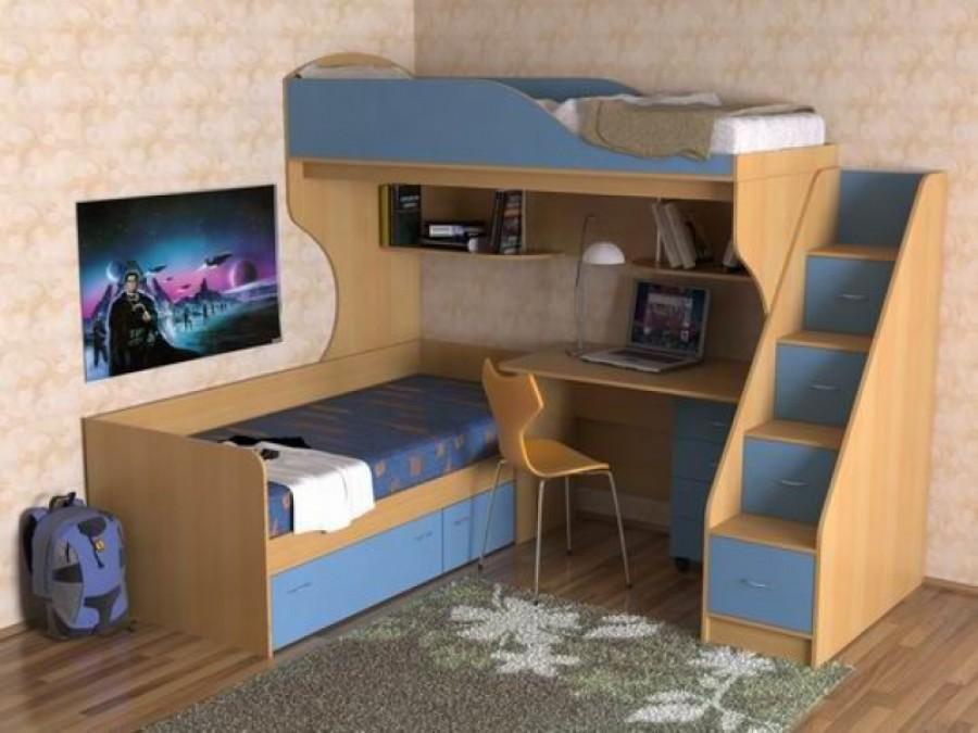 Двухъярусная кровать  для детей - это удобно и комфортно