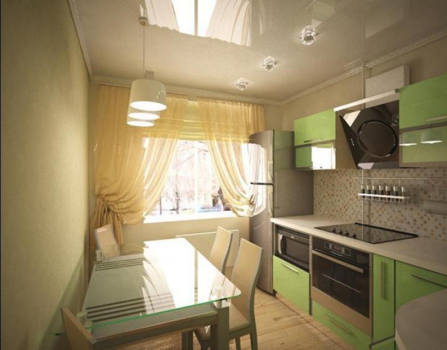 Дизайн-проект современной небольшой кухни