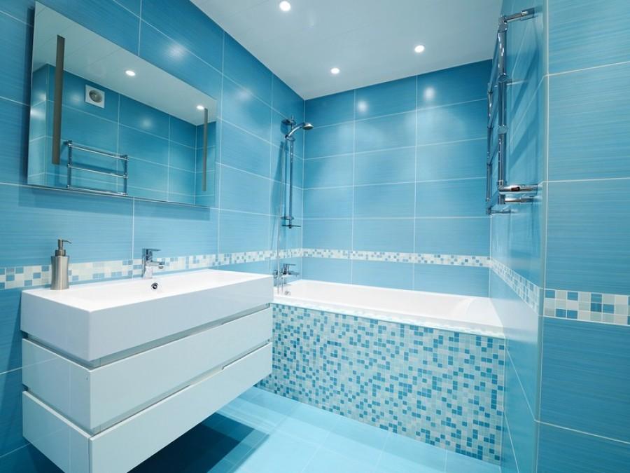 Современный вариант оформления ванной