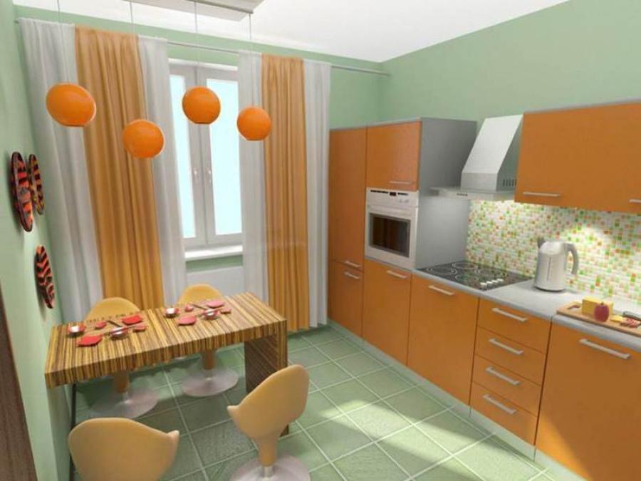 Стиль кухонных штор