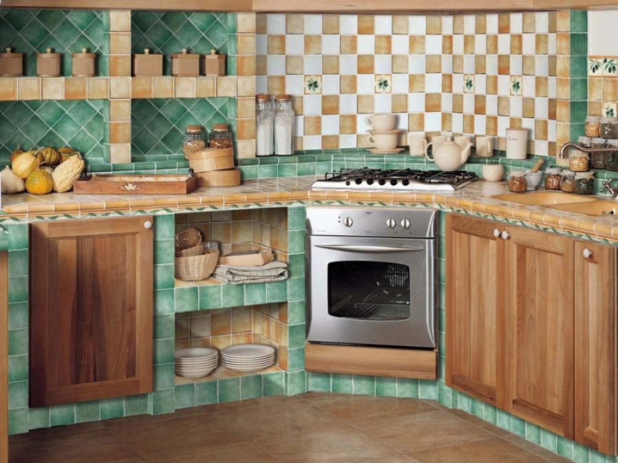 Напольный и настенный кафель на кухню
