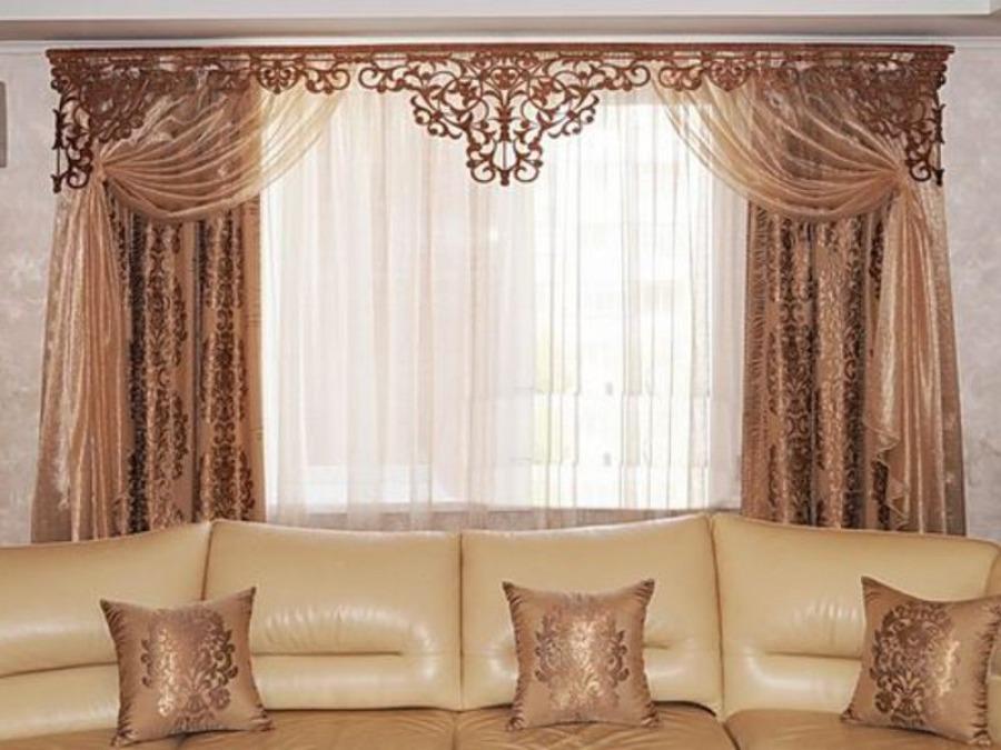 Красивые шторы в гостиной - дизайнерские решения для вашего дома