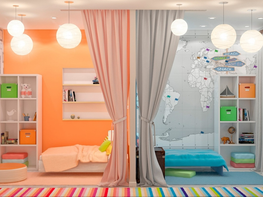 Идея обустройства детской комнаты