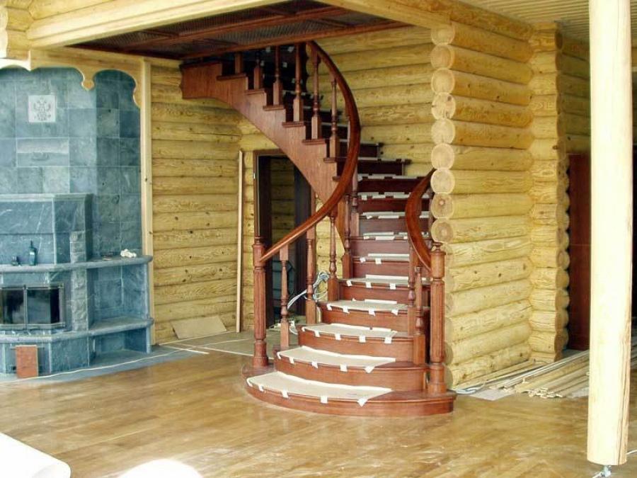Дизайн деревянной лестницы