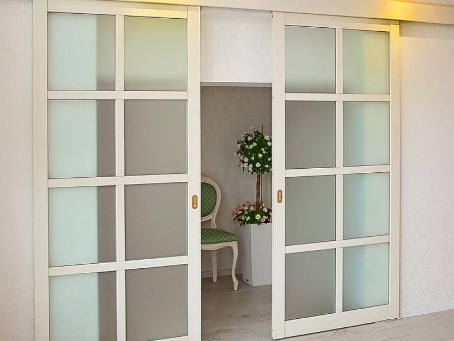 Межкомнатные раздвижные двери в интерьере