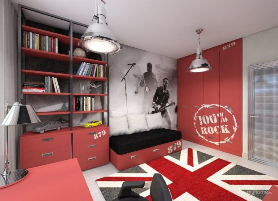 Детская комната в стиле рок