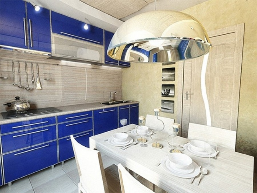 Дизайн современной кухни - небольшое пространство.