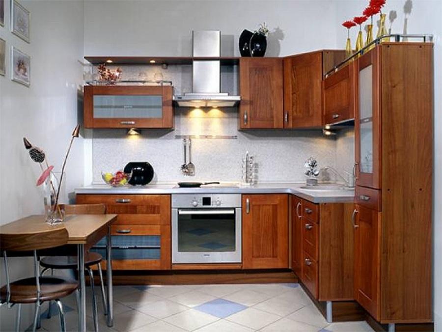 Г-образная планировка кухонной мебели