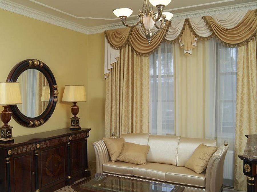 Классика штор для гостиной