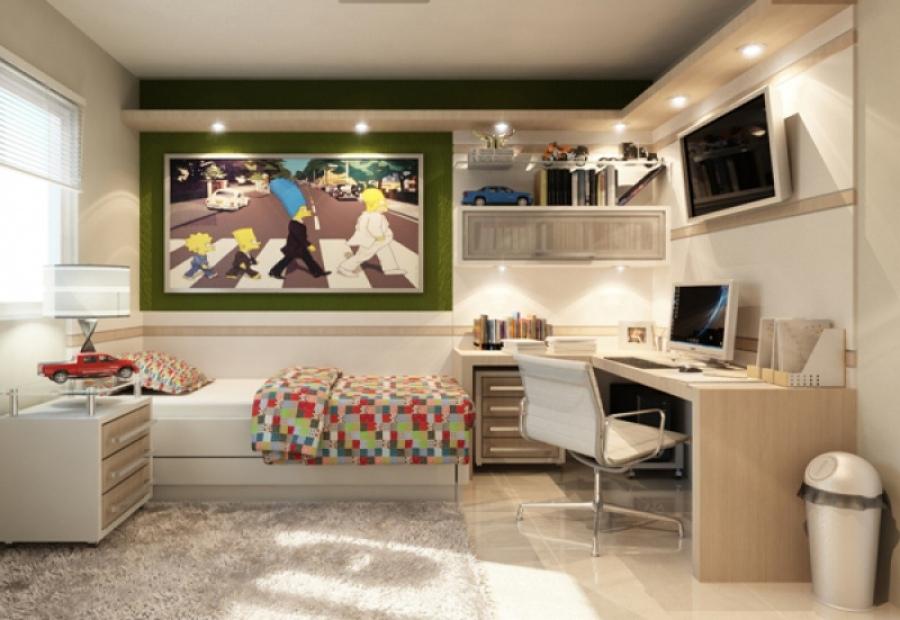 Комната подростка в стиле лофт: пример дизайнерского решения