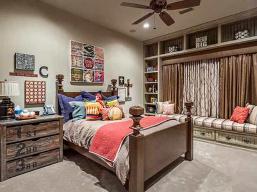 Комната мальчика подростка - вариант для старшего школьного возраста.