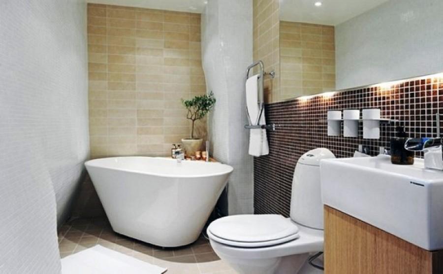 Ванная, даже самая маленькая, может быть удобной и красивой