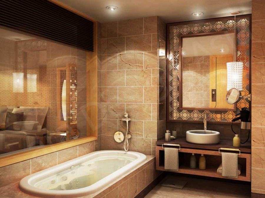 Современный проект ванной комнаты