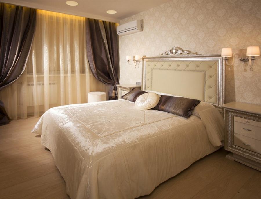 Гардины и занавески в спальне