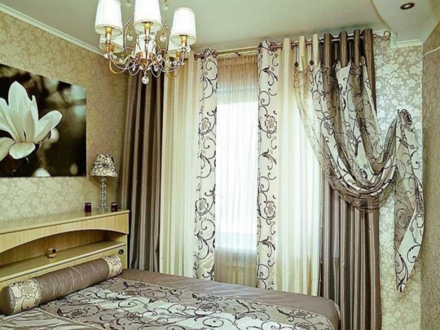 Искусно подобранные шторы для спальни