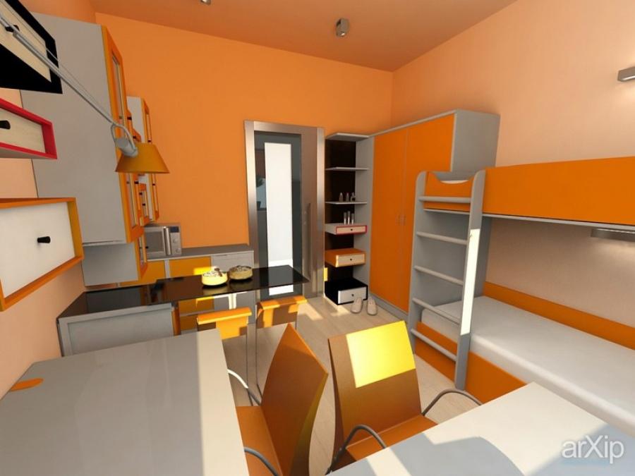 Детская комната 12 кв. м - пример дизайна