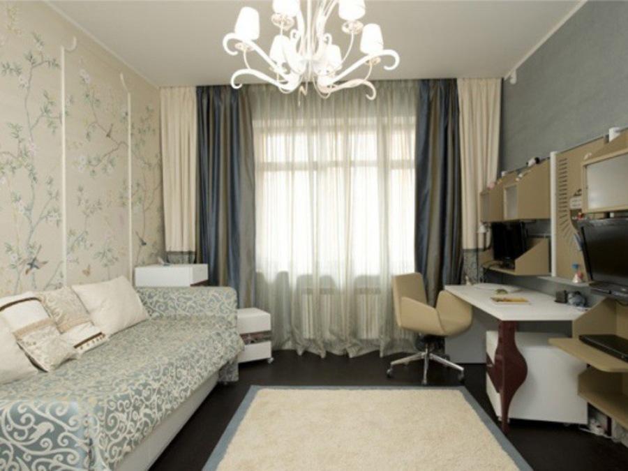 Комната маленькая, но нужно сделать ее уютной.