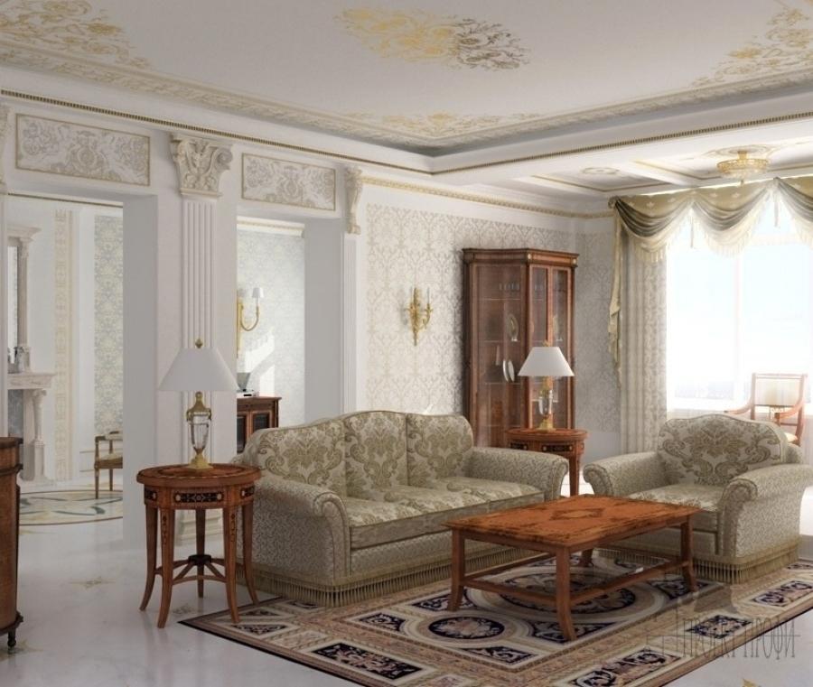 Интерьер гостиной - классический стиль