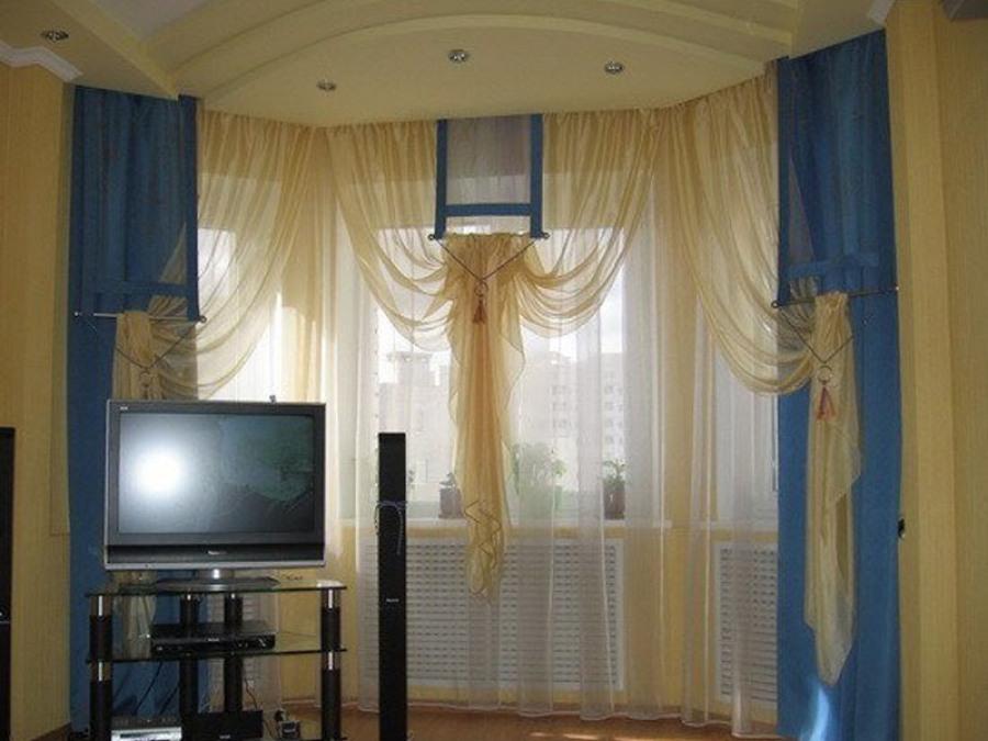 Стильные шторы в интерьере