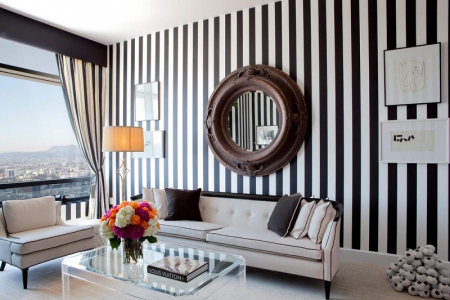 Черно-белые обои - дизайн, основанный на контрастах.