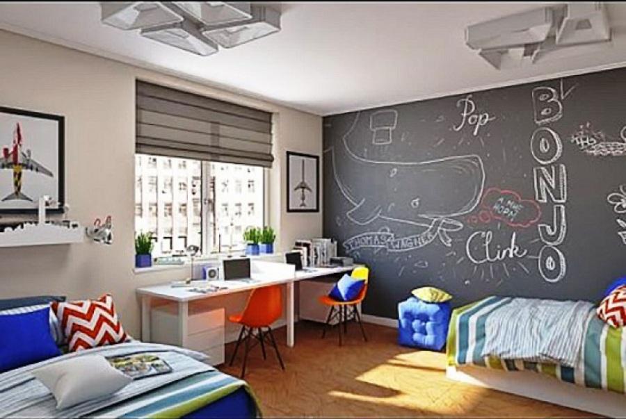 Детская комната для мальчиков - интересный дизайн