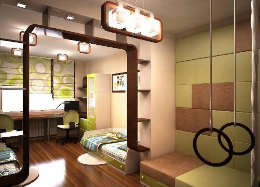 Дизайн детской комнаты в бежевых тонах