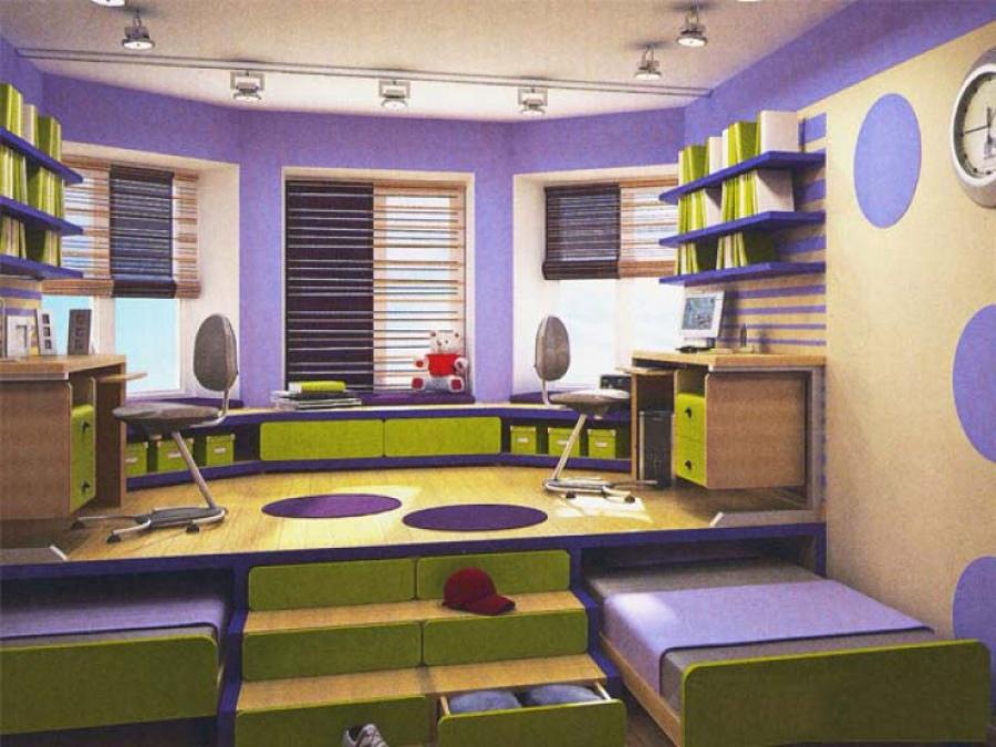 Комната подростков отличается от комнаты малышей очень сильно