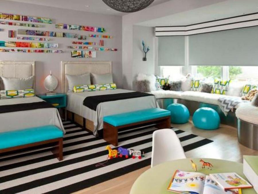 Основные зоны детской  - это место для сна, для игр и для занятий.