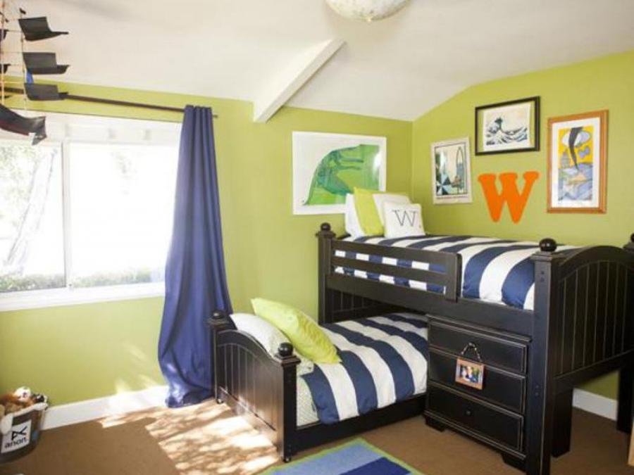 Детская комната для малышей - маленьким мальчикам очень понравится.