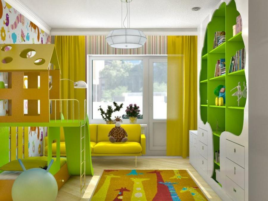 Яркий дизайн детской фото