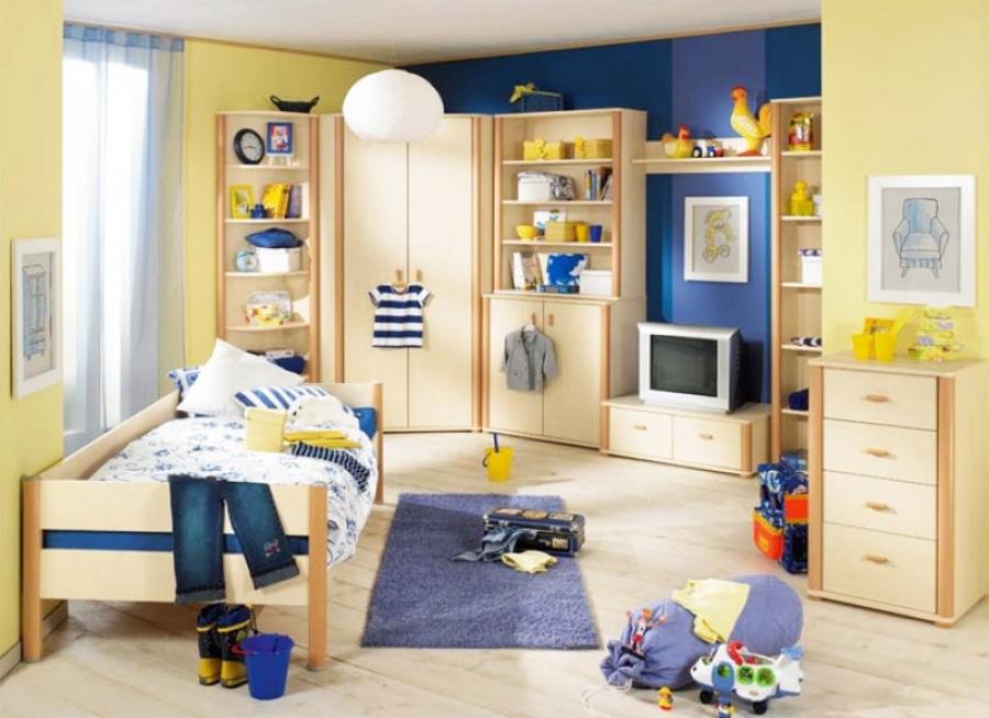 Фото современной детской - здесь живет мальчик 7-8 лет