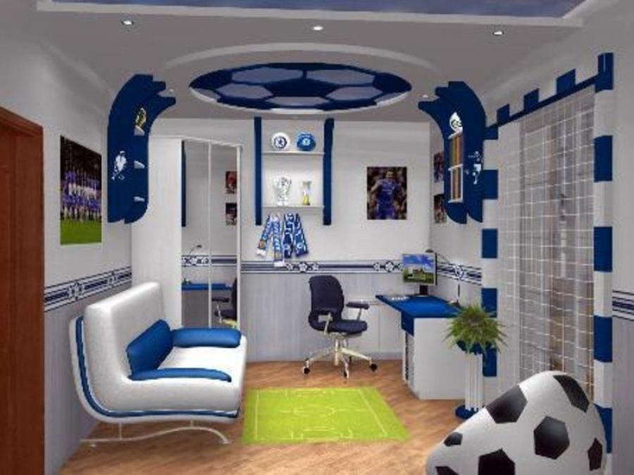 Спальня подростка - комната мальчика, дизайн.