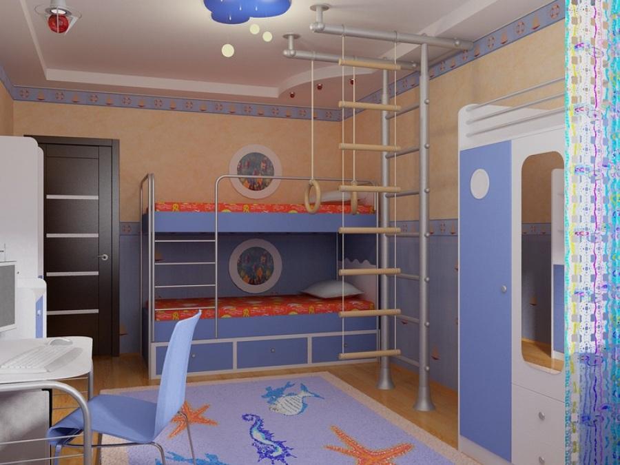 Современный вид детской комнаты